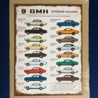 GMH Exterior Colours Sign